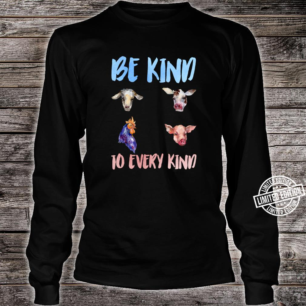 Be Kind To Every Kind Vegan Vegetarian Watercolor Animals Shirt long sleeved