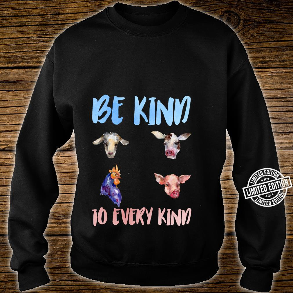 Be Kind To Every Kind Vegan Vegetarian Watercolor Animals Shirt sweater