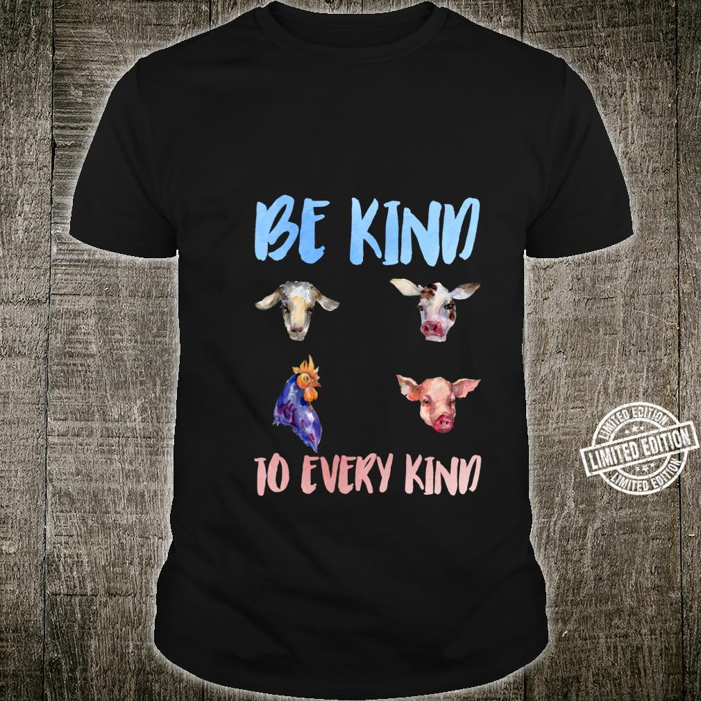 Be Kind To Every Kind Vegan Vegetarian Watercolor Animals Shirt