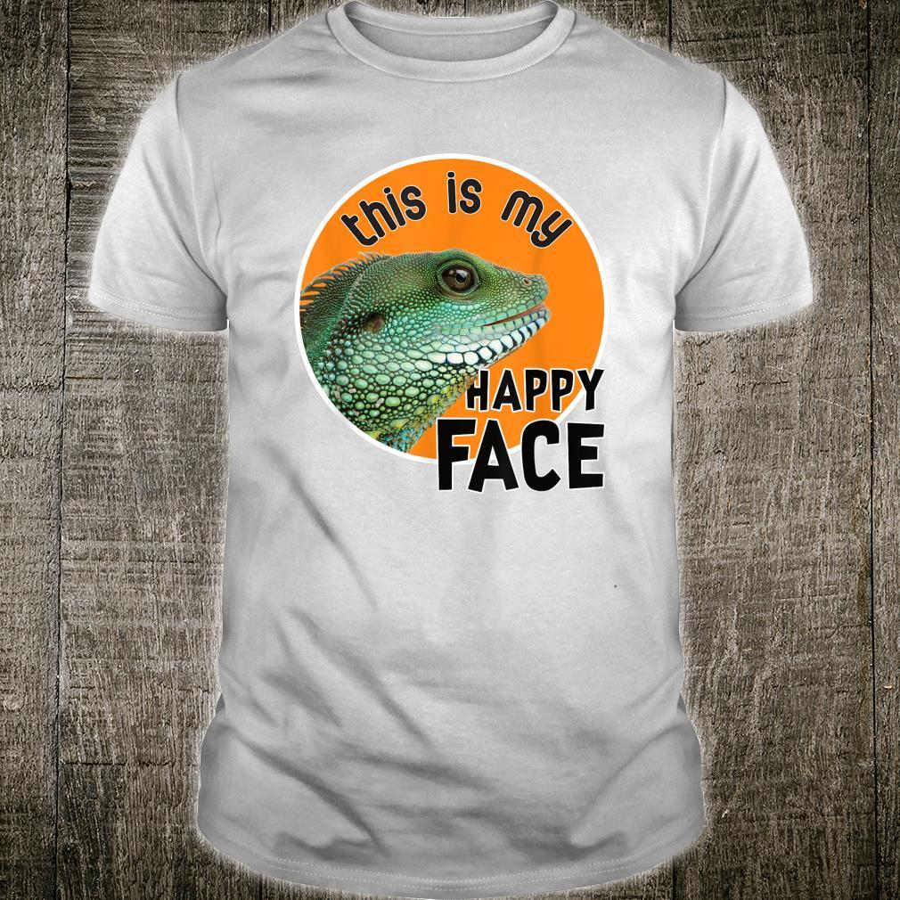 Bearded Dragon This Is My Happy Face oversized Reptile Shirt