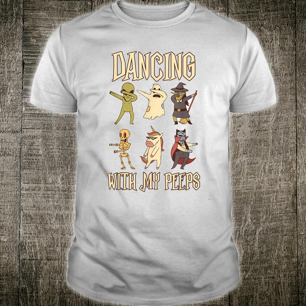Dancing With My Peep Skeleton Ghost Unicorn Witch Shirt