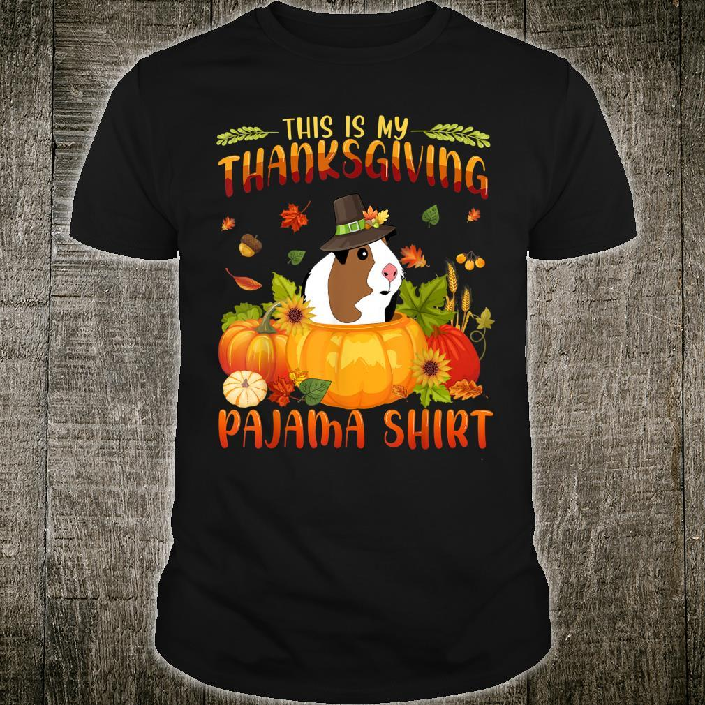 Guinea Pig Autumn Fall This is My Thanksgiving Pajama Shirt