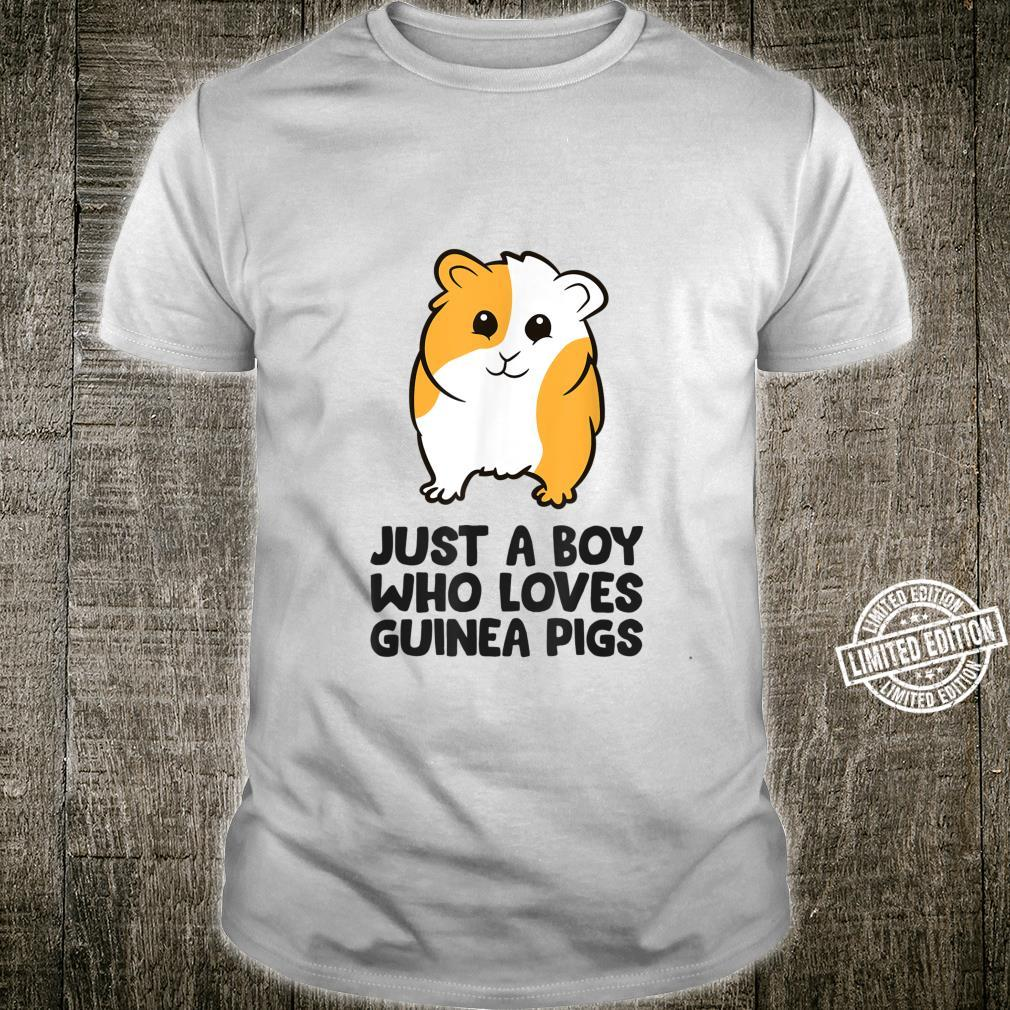 Just a Boy Who Loves Guinea Pigs Shirt