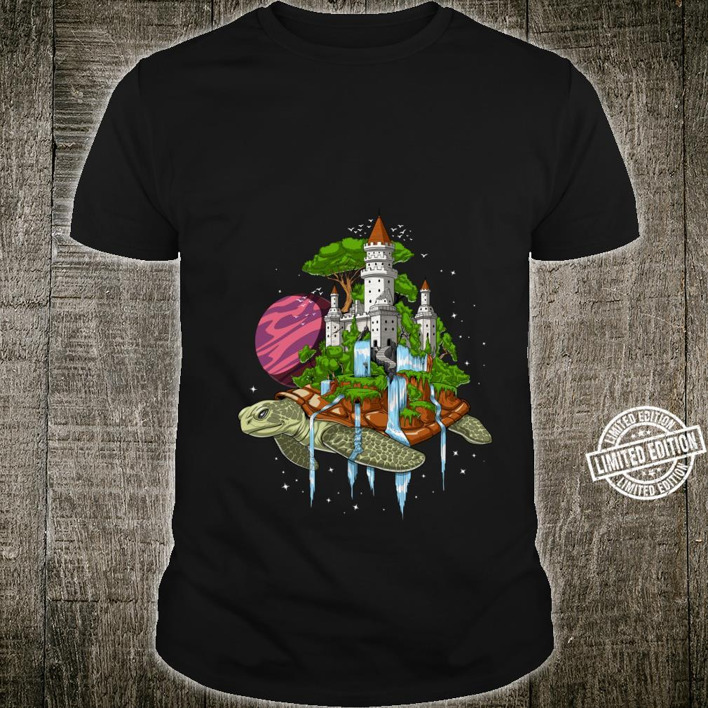 Psychedelic Turtle Space Cosmic Tortoise Flat Earth Fantasy Shirt