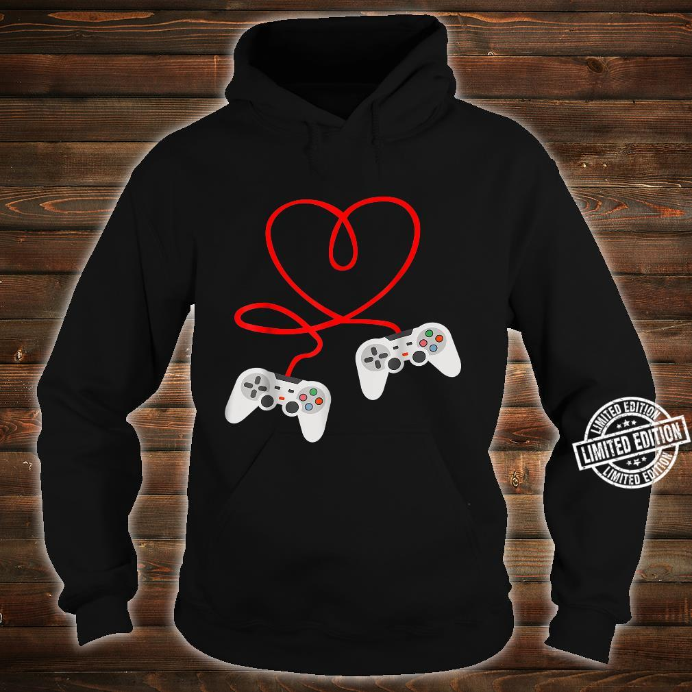 Video Gamer Valentines Day With Controllers Heart Shirt hoodie