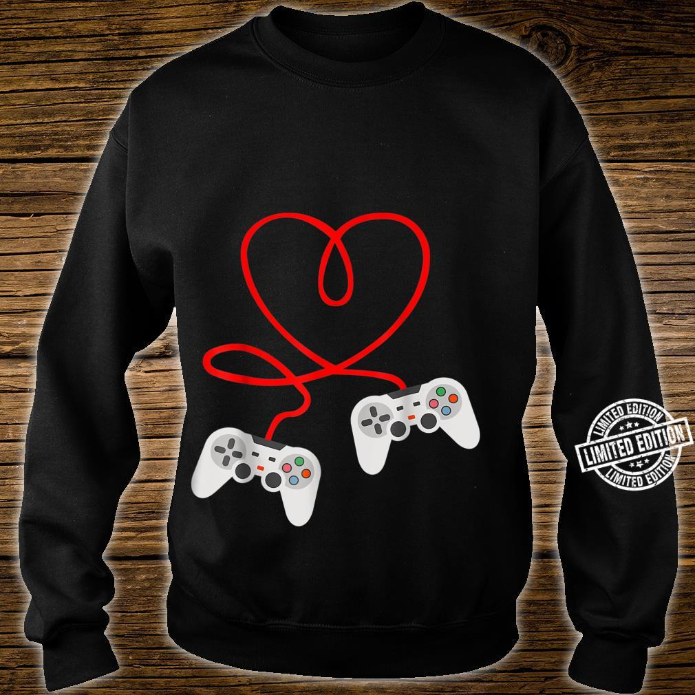 Video Gamer Valentines Day With Controllers Heart Shirt sweater