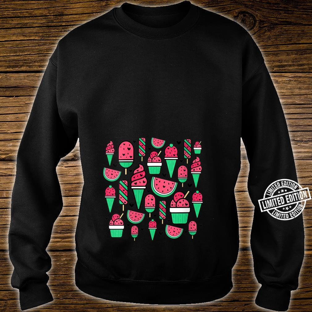 Watermelon Summer Popsicle Ice Lolly Ice Cream Cone Cute Shirt sweater