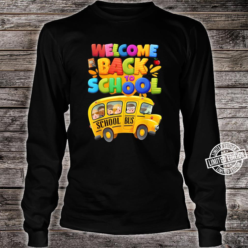 Welcome Back to School School Bus Driver Boys Shirt long sleeved