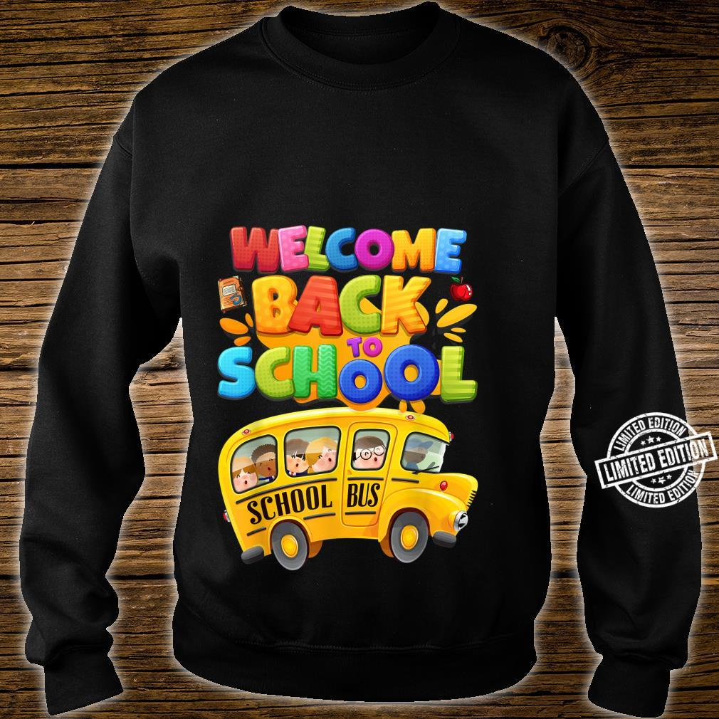 Welcome Back to School School Bus Driver Boys Shirt sweater