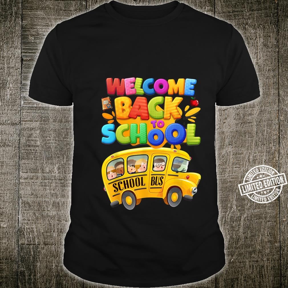 Welcome Back to School School Bus Driver Boys Shirt