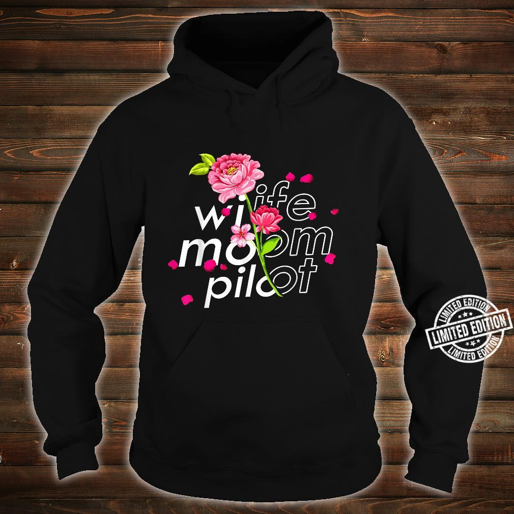 Wife Mom Airplane Pilot Cute Mother's Day Floral Pilot Shirt hoodie