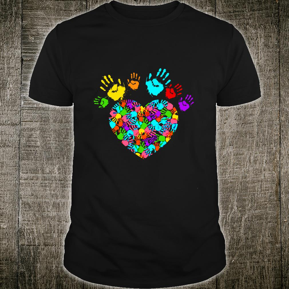 AUTISM HEART T SHIRT ALL SIZES AND COLOURS