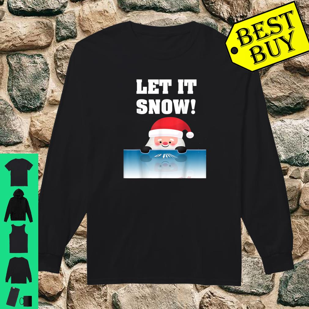Cocaine Santa Sweater White Christmas Gift Adult Let It Snow Shirt long sleeved