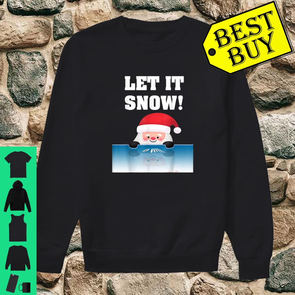 Cocaine Santa Sweater White Christmas Gift Adult Let It Snow Shirt sweater