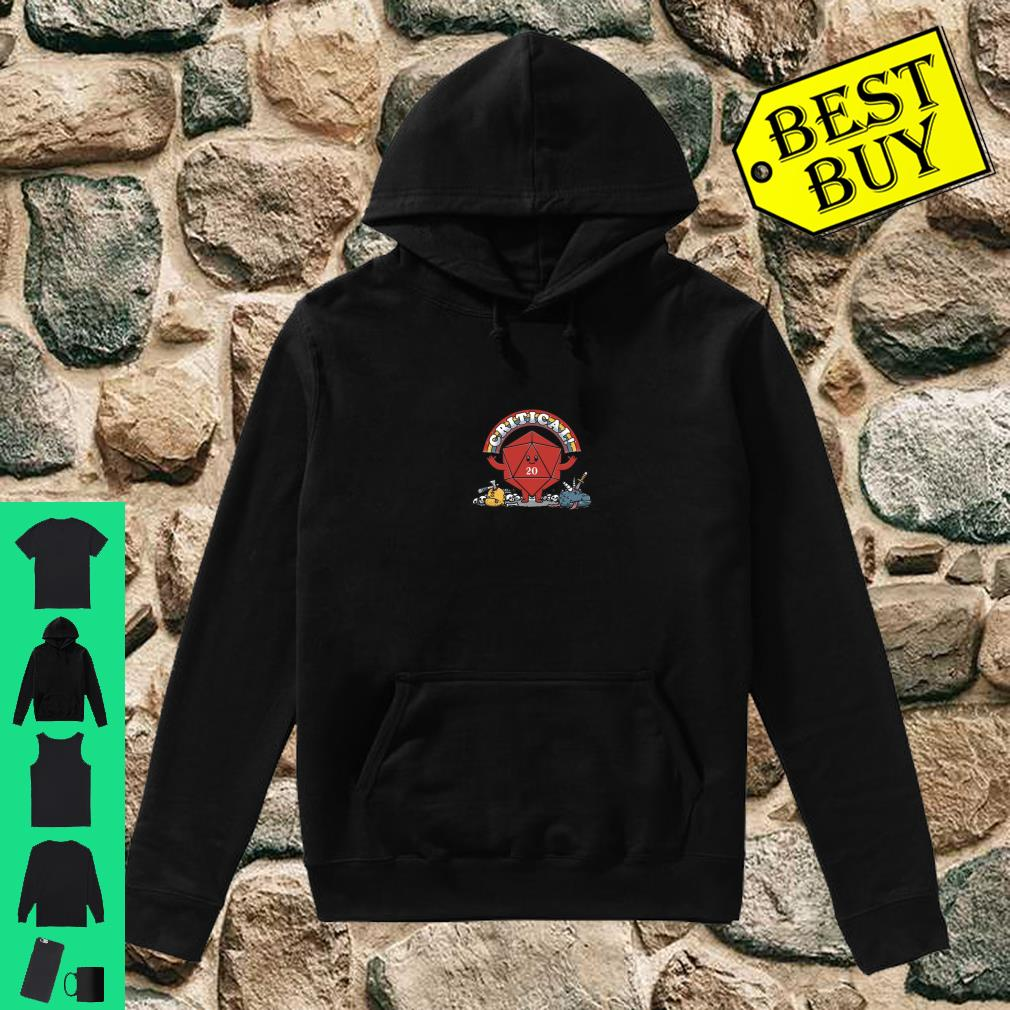 Critical Crit Hits Awesome 20 side die hit Shirt hoodie