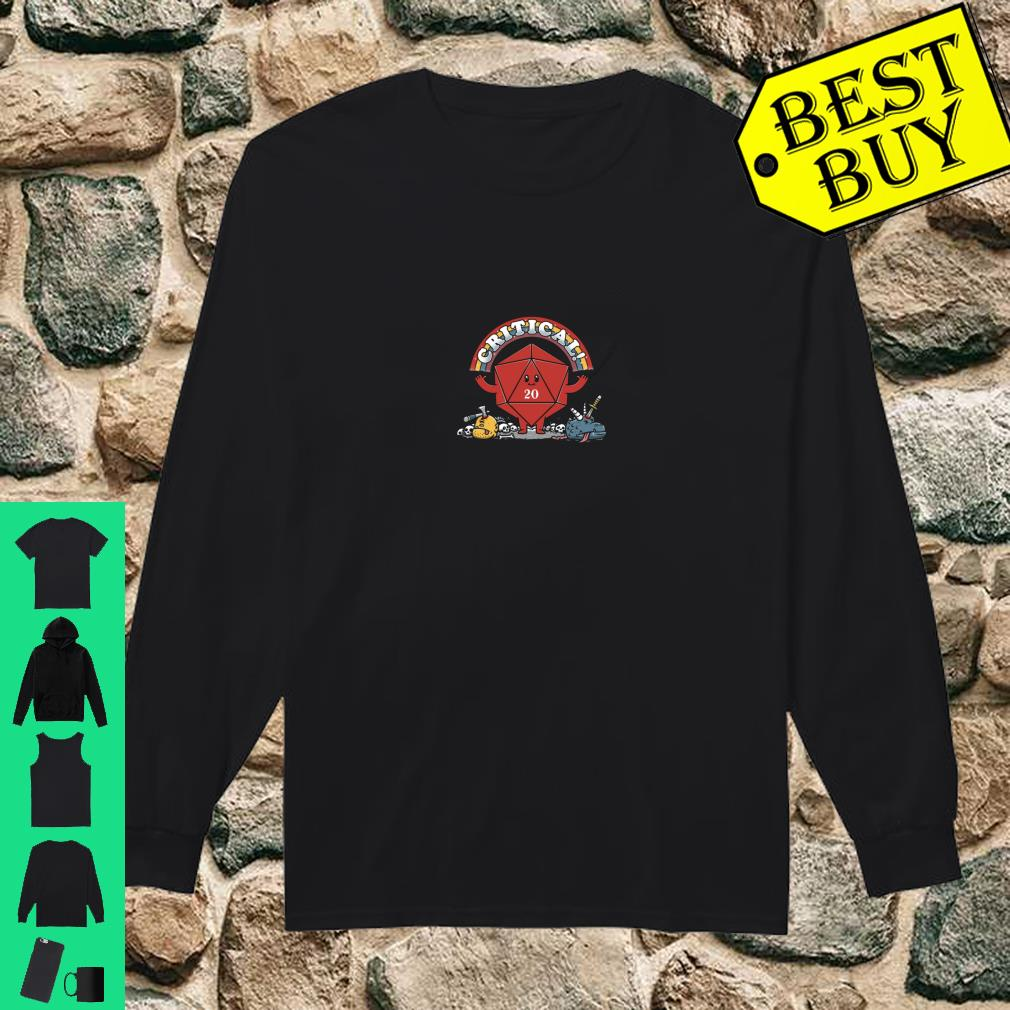 Critical Crit Hits Awesome 20 side die hit Shirt long sleeved