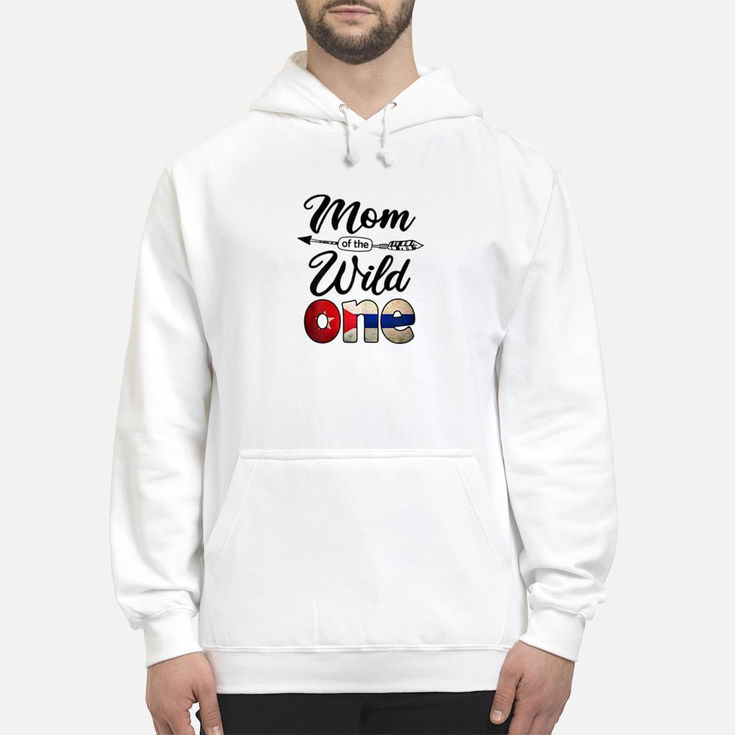 Cuban Mom of the Wild One Birthday Cuba Flag Shirt hoodie