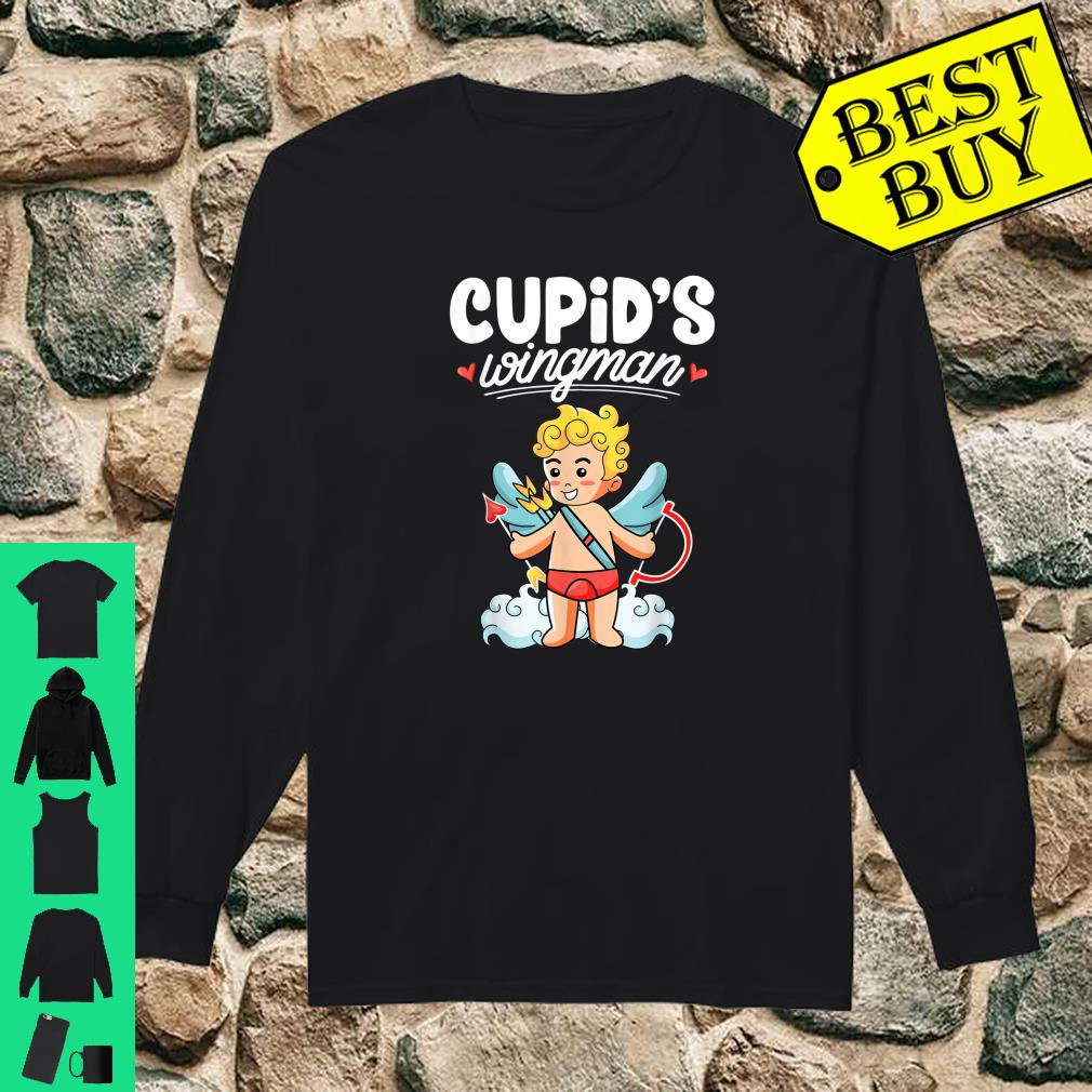 Cupid's wingman Valentine's day Cupid Arrow Shirt long sleeved
