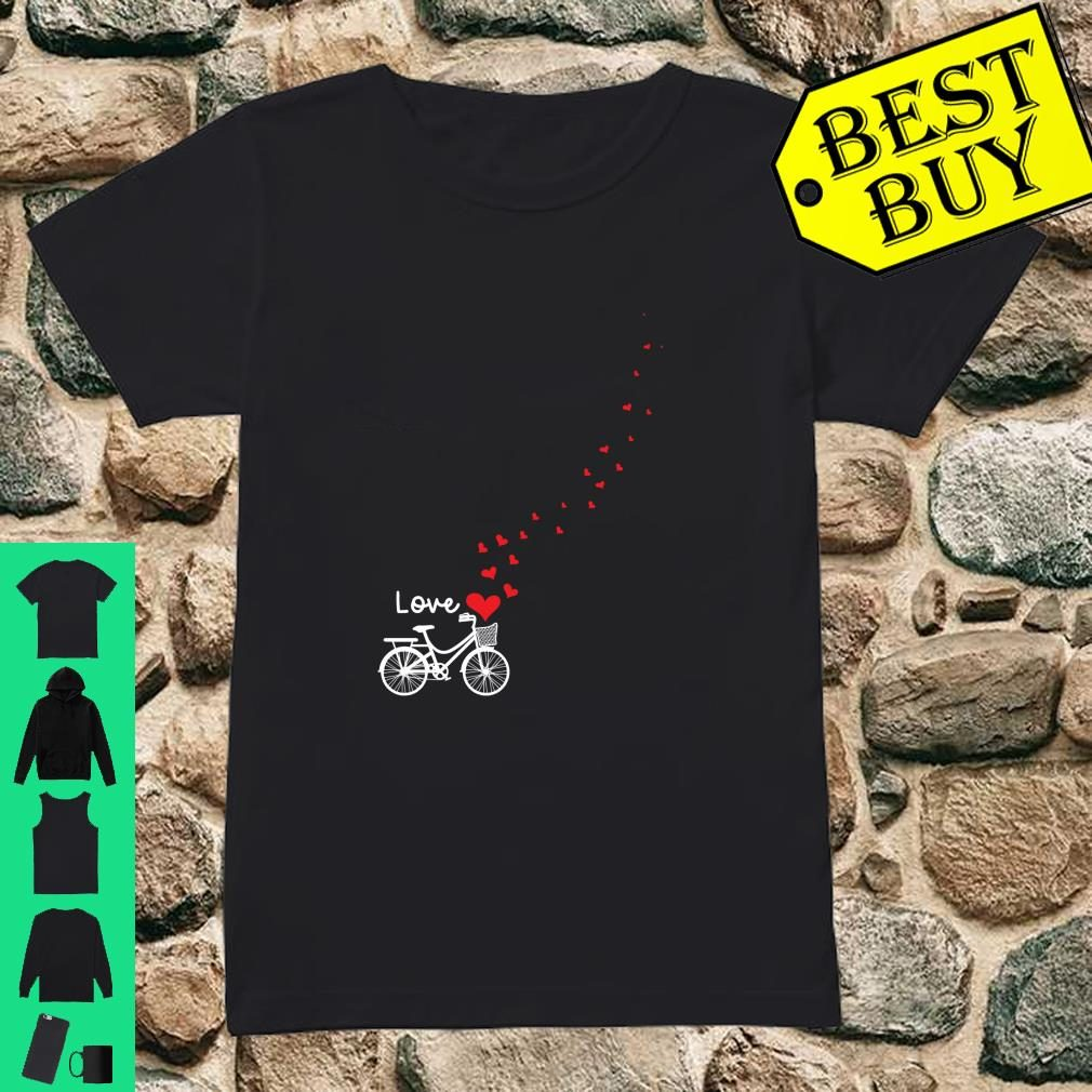 Cute Bicycle Love Sweetest Day Valentines Day Shirt ladies tee
