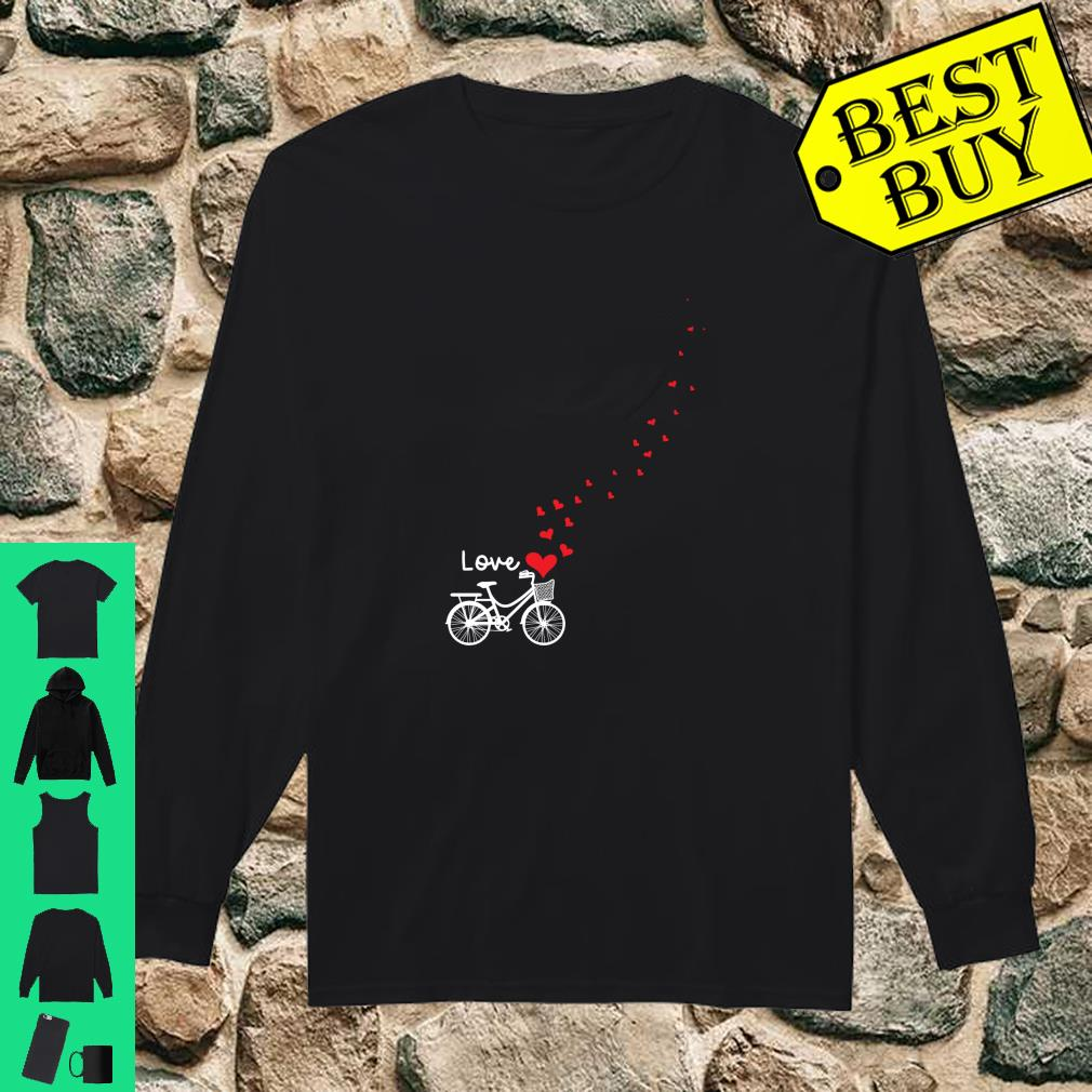 Cute Bicycle Love Sweetest Day Valentines Day Shirt long sleeved