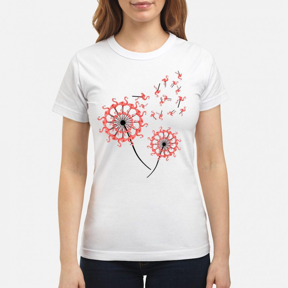 Flamingo Dandelion Shirt ladies tee