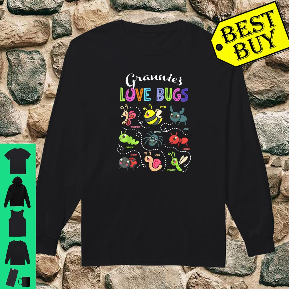 Grannie love bugs grand name Shirt long sleeved