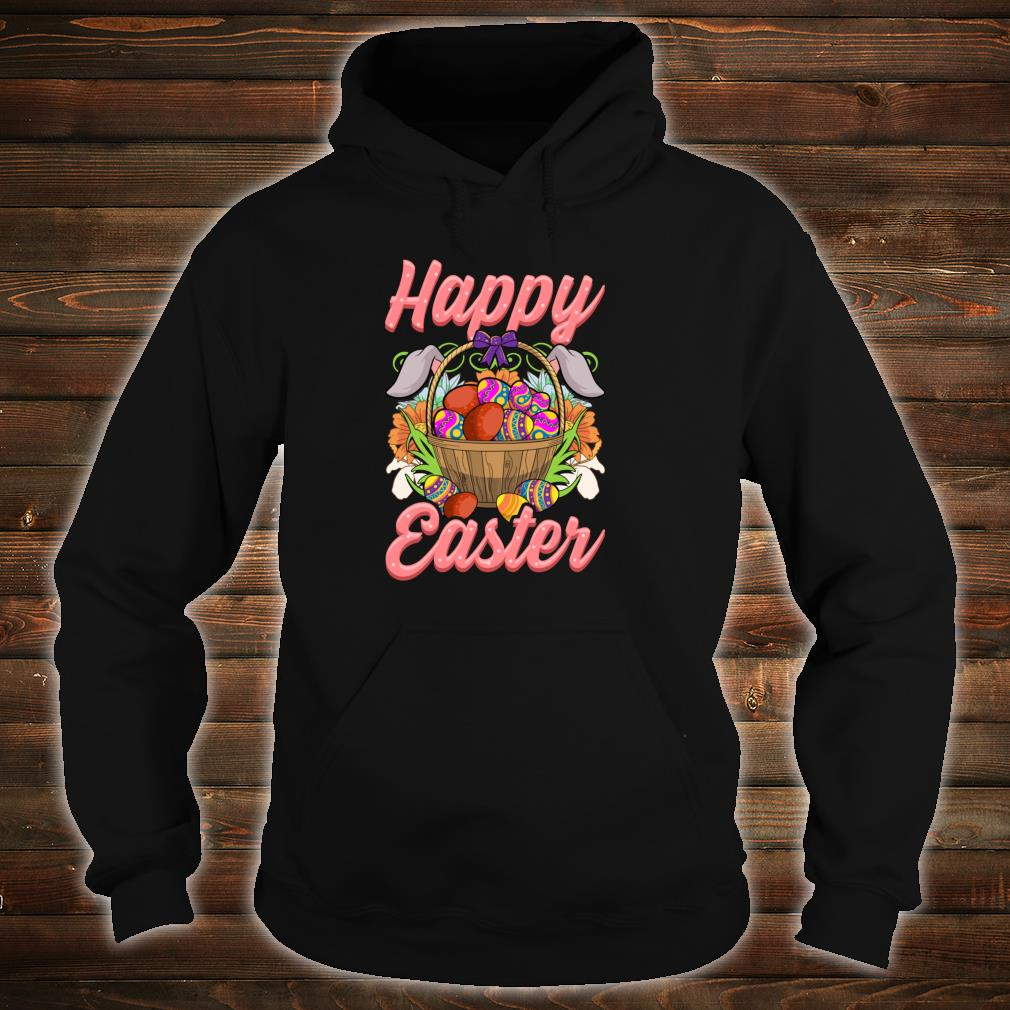 Happy Easter Floral Easter Egg Bunny Ears Costume Girls Shirt hoodie