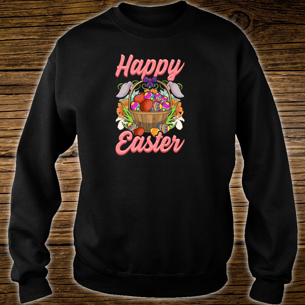 Happy Easter Floral Easter Egg Bunny Ears Costume Girls Shirt sweater