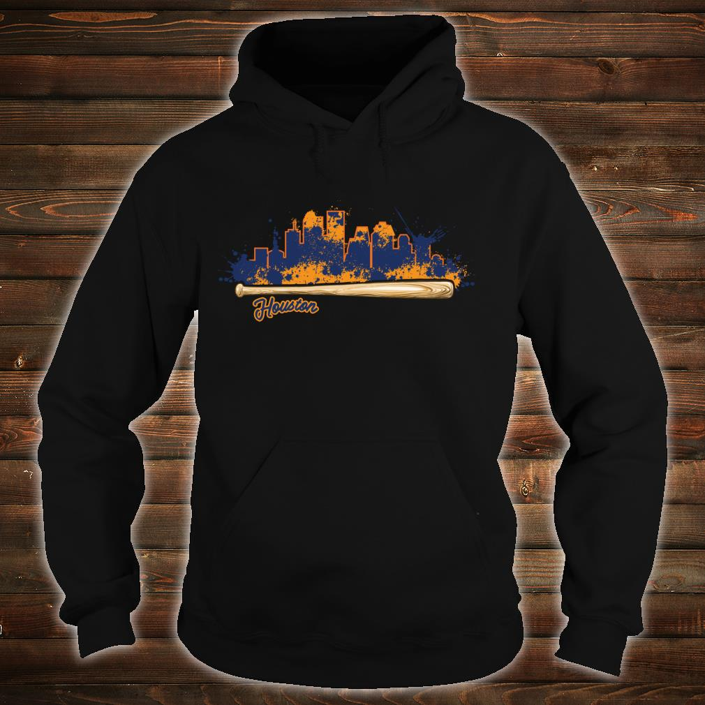 Houston City Skyline Paint Splat Baseball Bat Fan Shirt hoodie