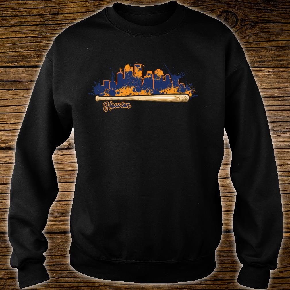 Houston City Skyline Paint Splat Baseball Bat Fan Shirt sweater
