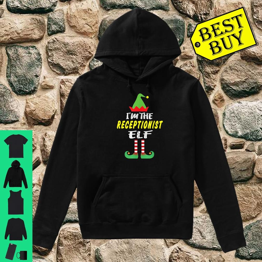 I'm The Receptionist Elf Matching Group Christmas Shirt hoodie