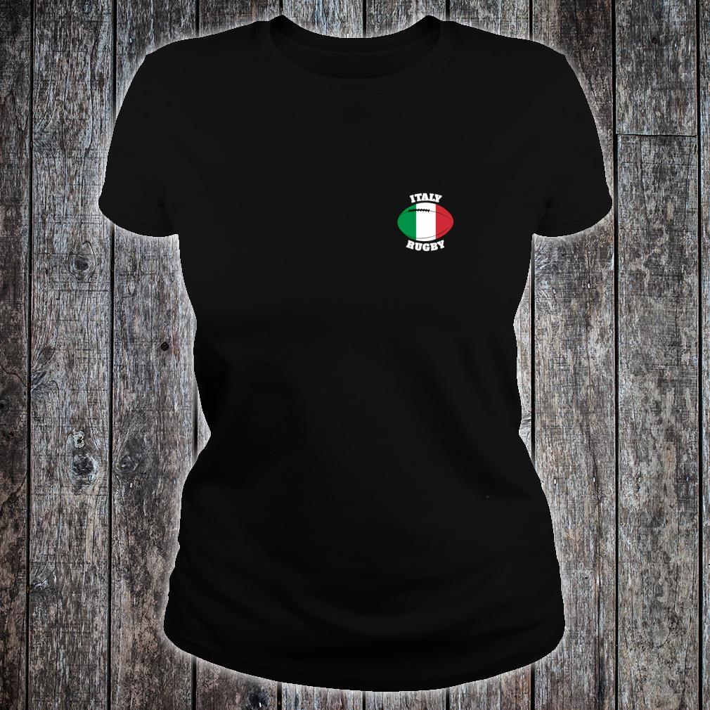 Italy Rugby Ball Flag Italian Rugby Fans 2020 Shirt ladies tee