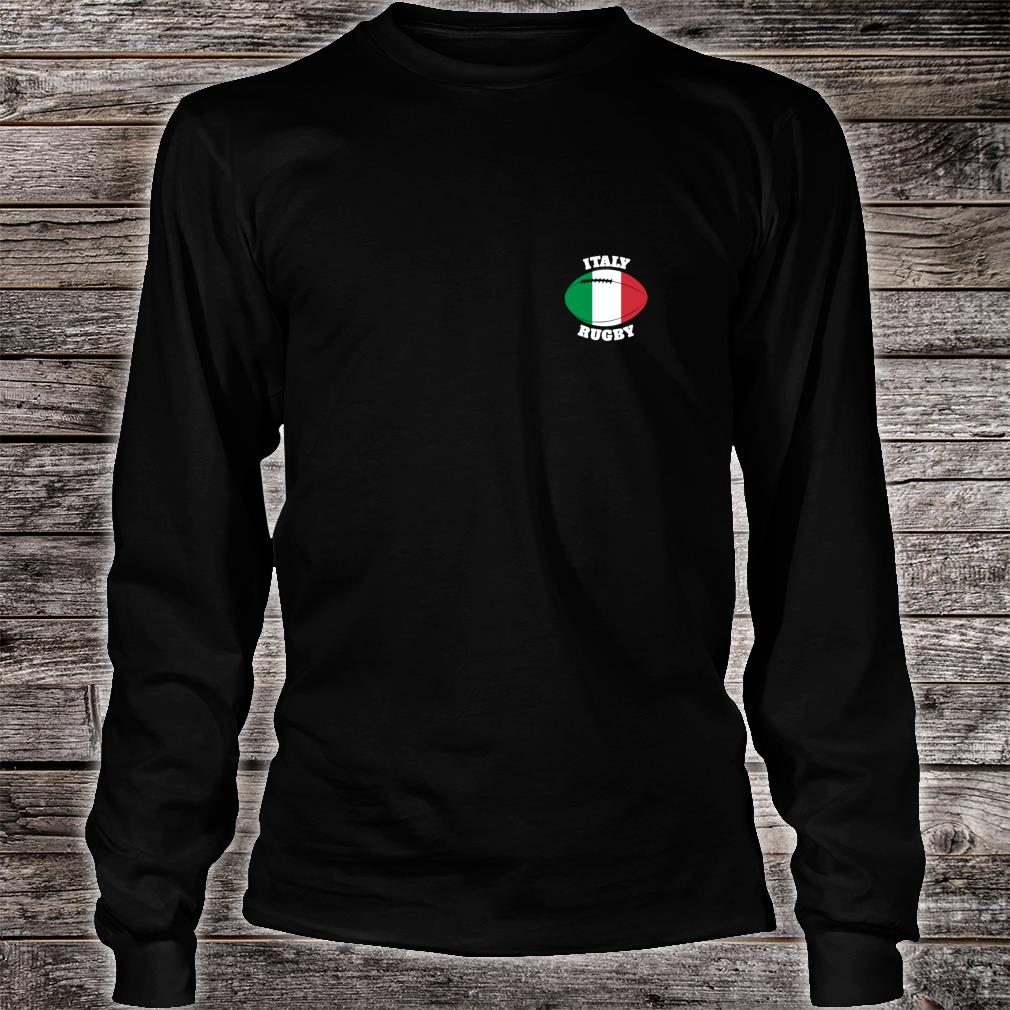 Italy Rugby Ball Flag Italian Rugby Fans 2020 Shirt long sleeved