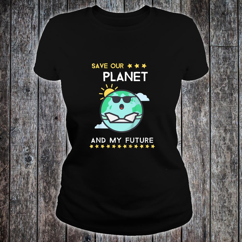 Kids Earth Day 2020 Climate Change Activism Shirt ladies tee