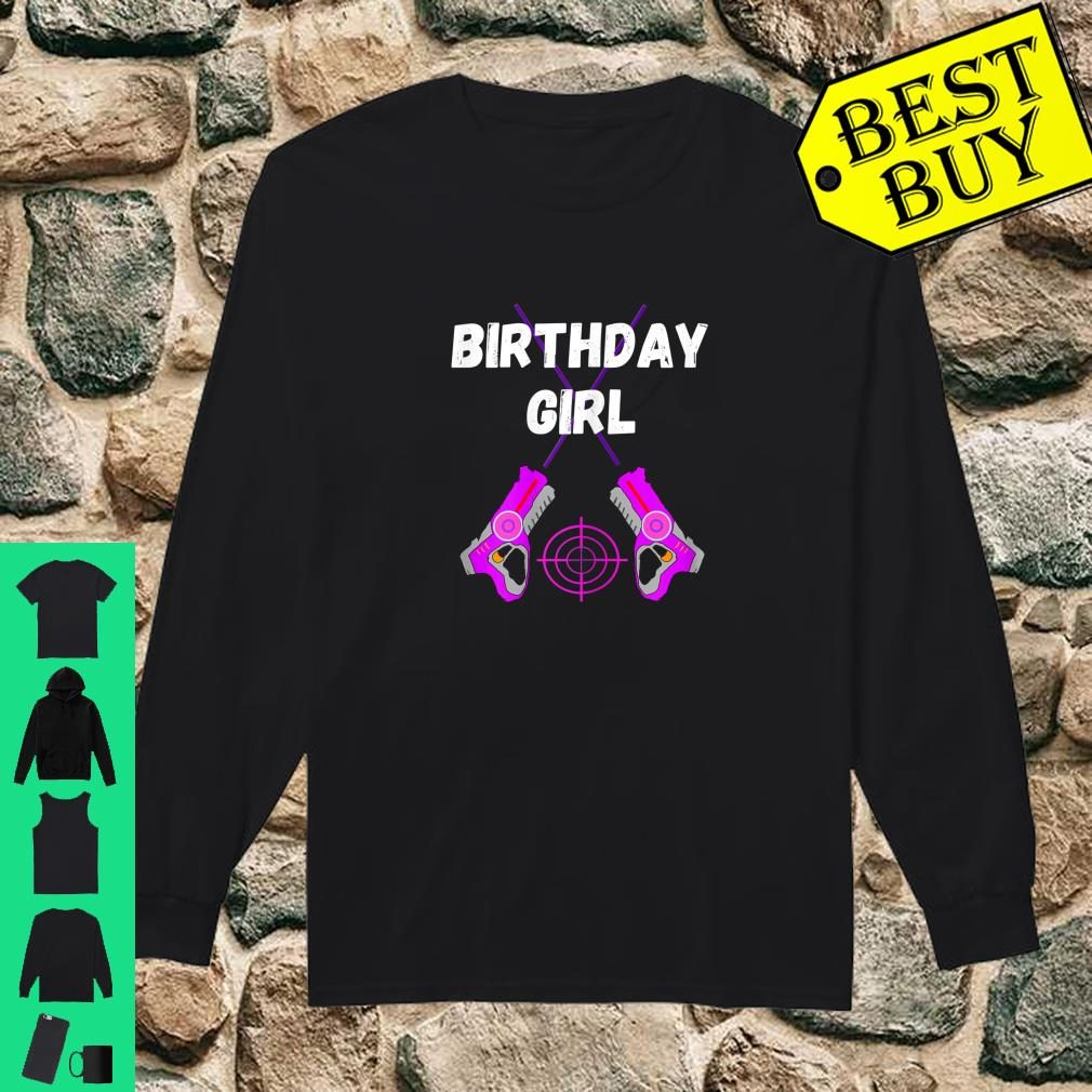 Laser Tag Birthday Girl Party Indoor Lasertag Game Player Shirt long sleeved