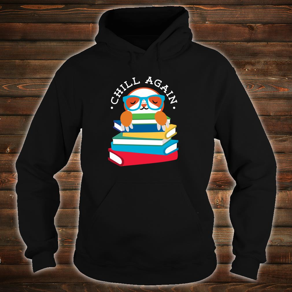 Library Sloth Life Reading Books Animal For Lazy People Shirt hoodie