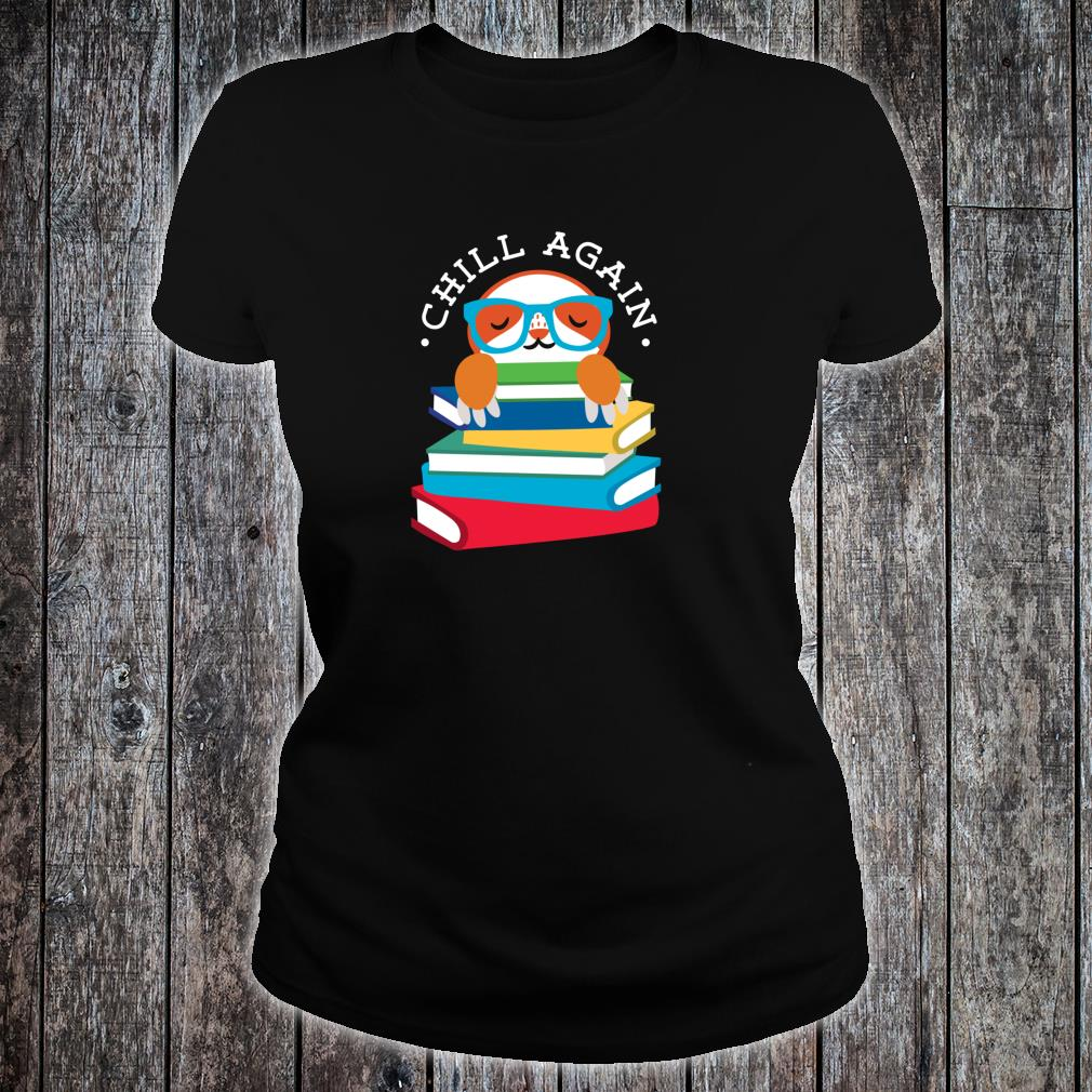 Library Sloth Life Reading Books Animal For Lazy People Shirt ladies tee