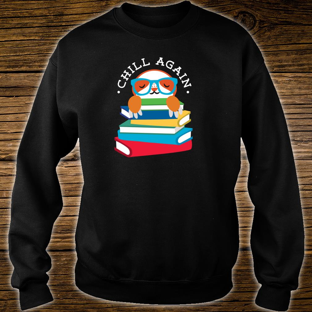 Library Sloth Life Reading Books Animal For Lazy People Shirt sweater