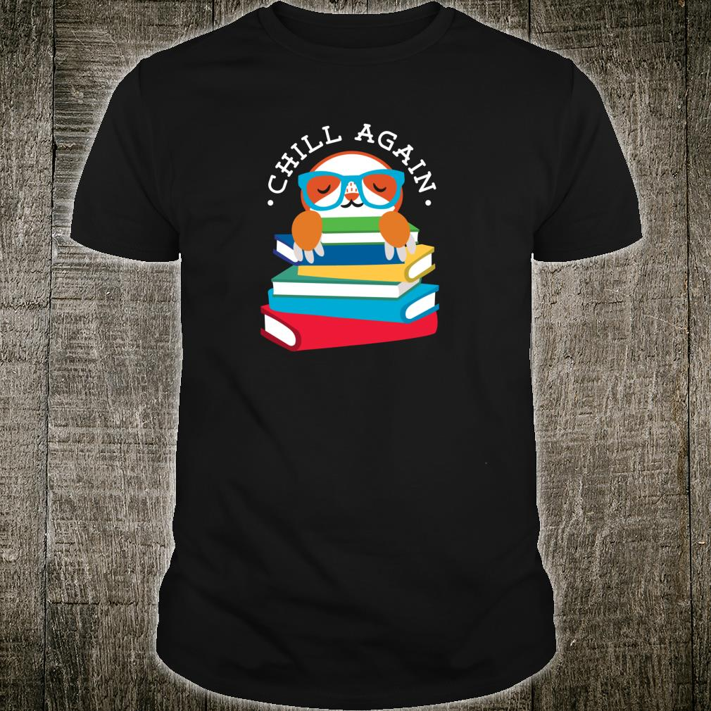 Library Sloth Life Reading Books Animal For Lazy People Shirt