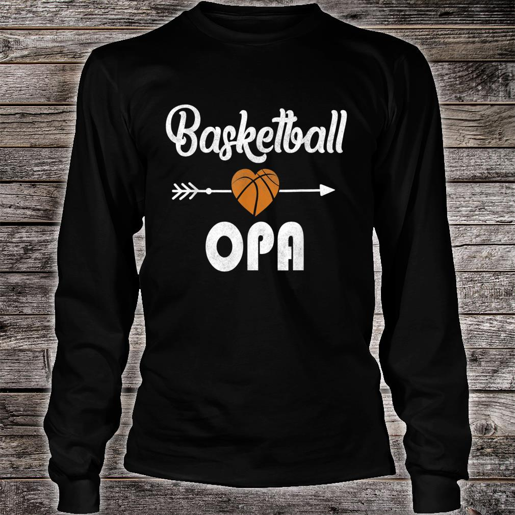 Opa Basketball Father's Day Shirt long sleeved