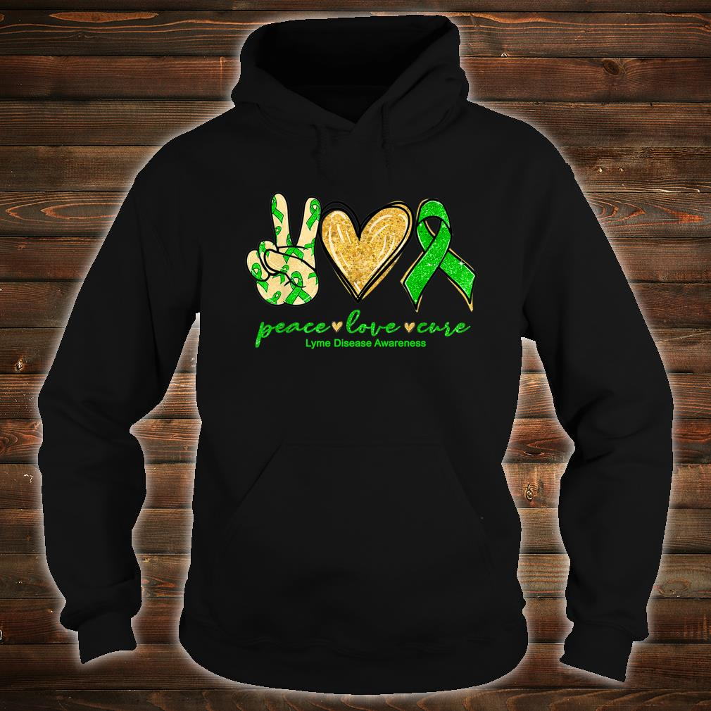 Peace Love Cure Ribbon Lyme Disease Awareness Shirt hoodie