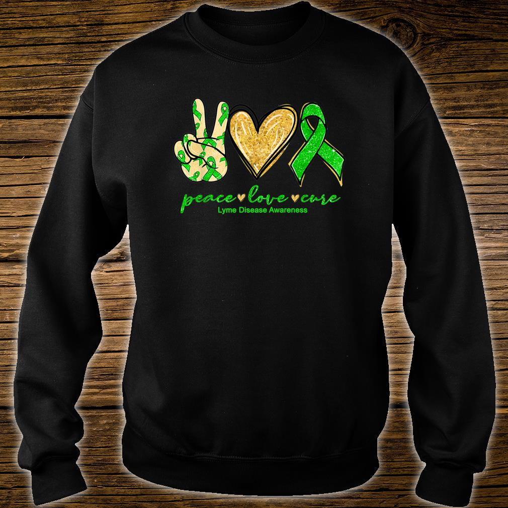 Peace Love Cure Ribbon Lyme Disease Awareness Shirt sweater