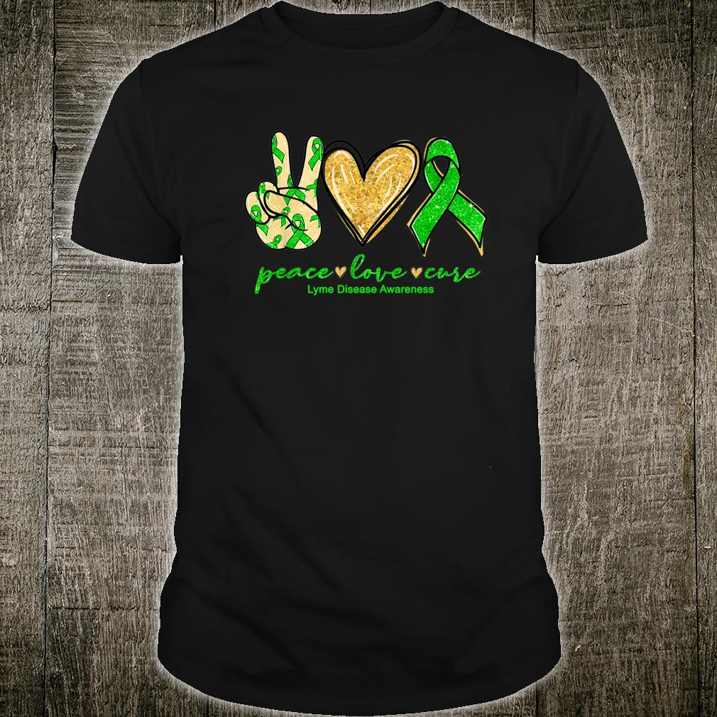 Peace Love Cure Ribbon Lyme Disease Awareness Shirt