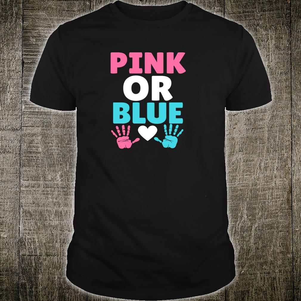 Pink or blue cute party gender reveal announcement pictures Shirt