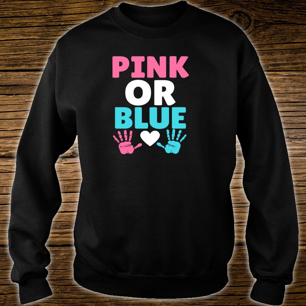 Pink or blue cute party gender reveal announcement pictures Shirt sweater