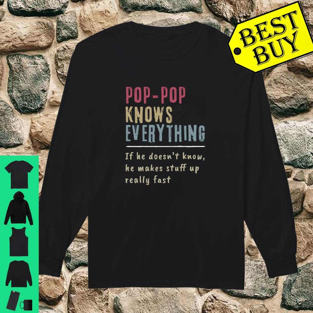 Poppop Knows Everything Cool Grandpa shirt long sleeved