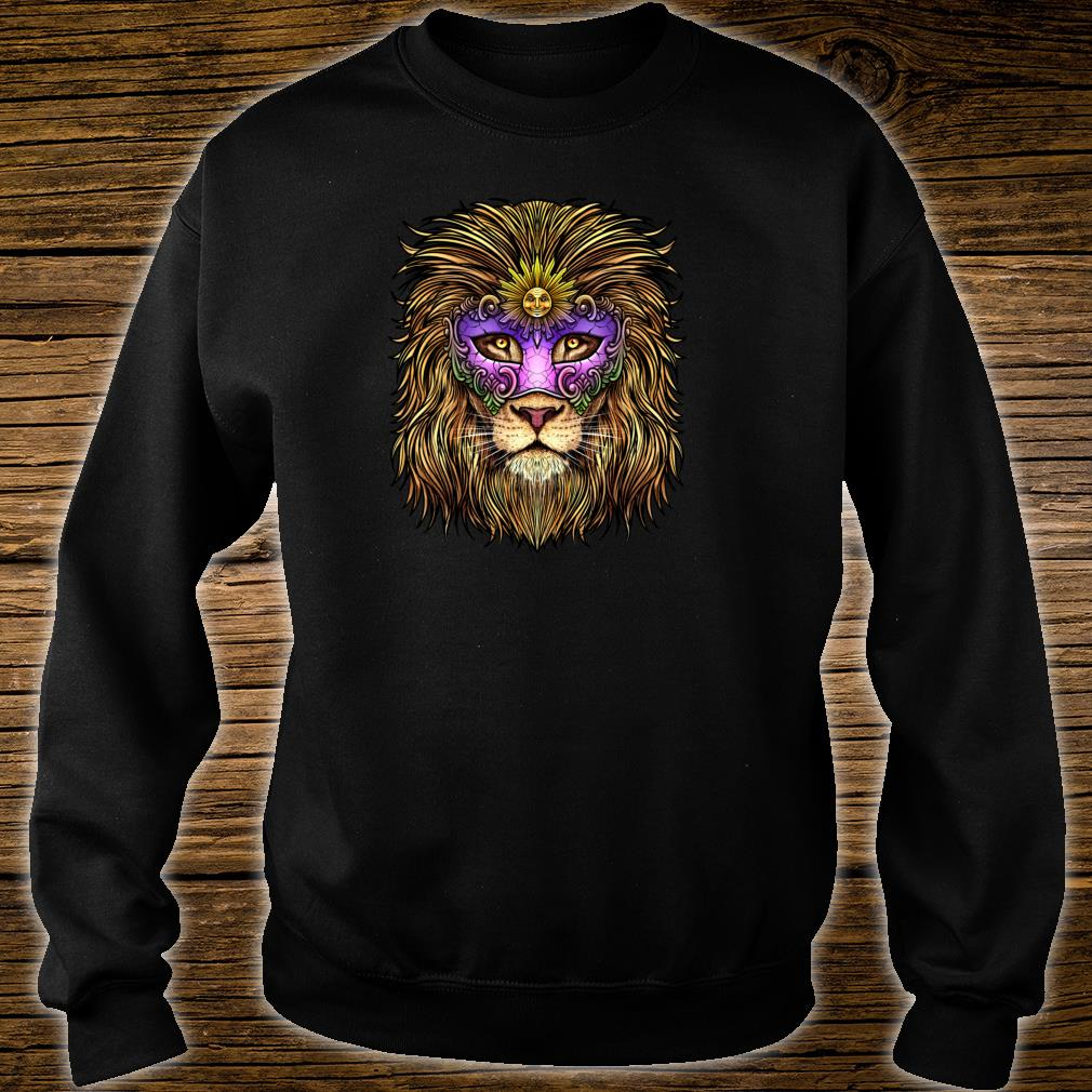 Pride Lion With Cute Mask Carnival Mardi Gras Shirt sweater