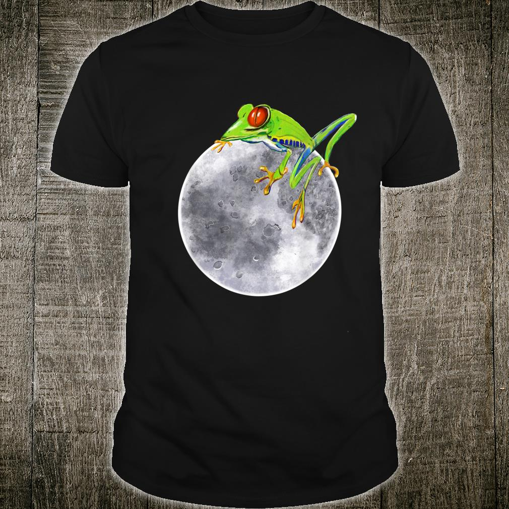Red eyed tree frog on the moon rainforest Humor cute Shirt