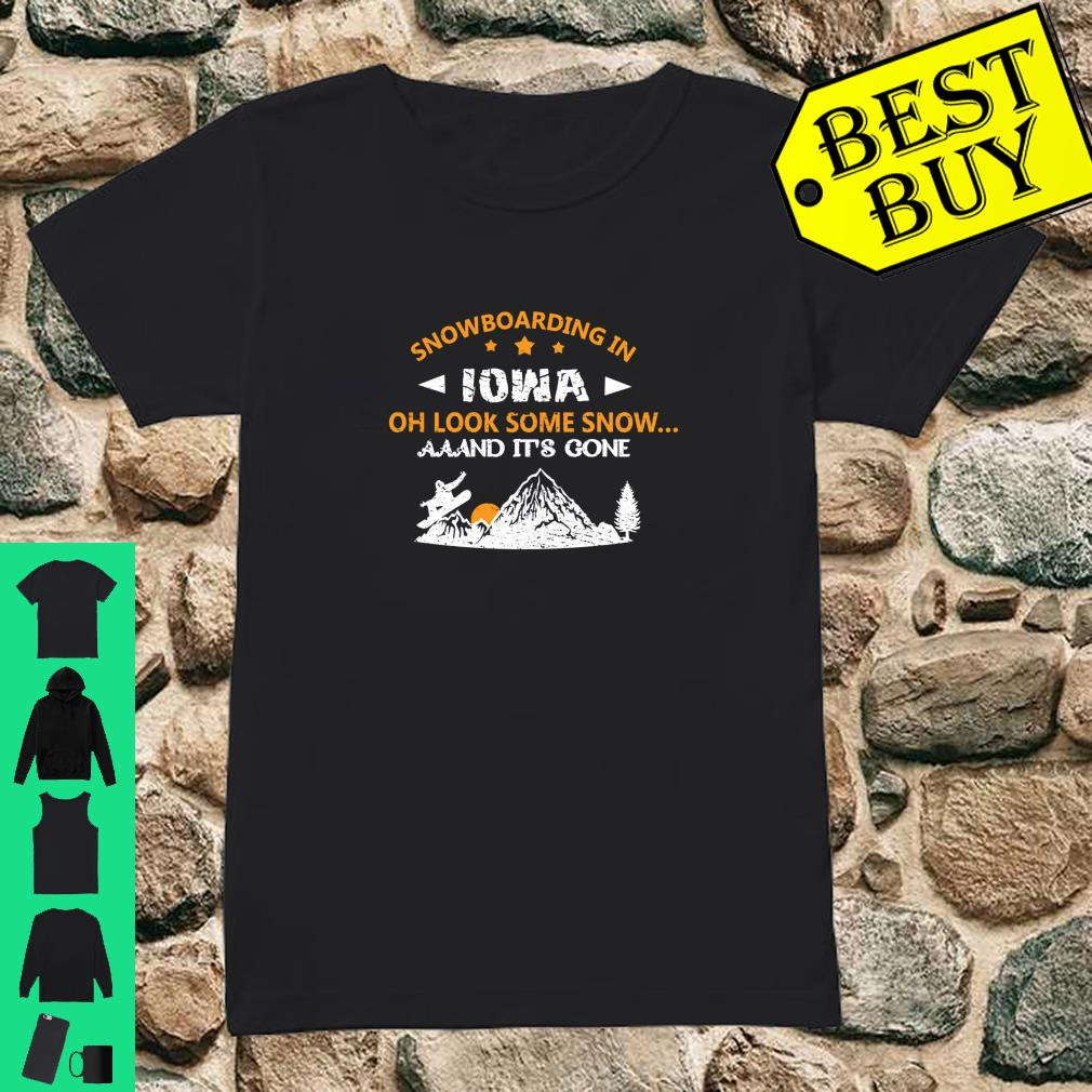 SNOWBOARDING Gift For Snowboarders In Iowa Shirt ladies tee