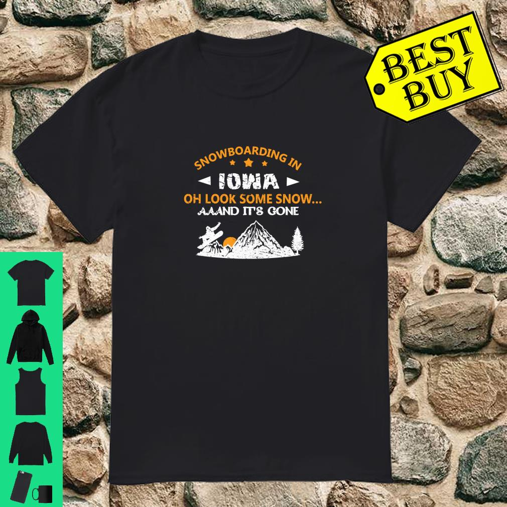 SNOWBOARDING Gift For Snowboarders In Iowa Shirt